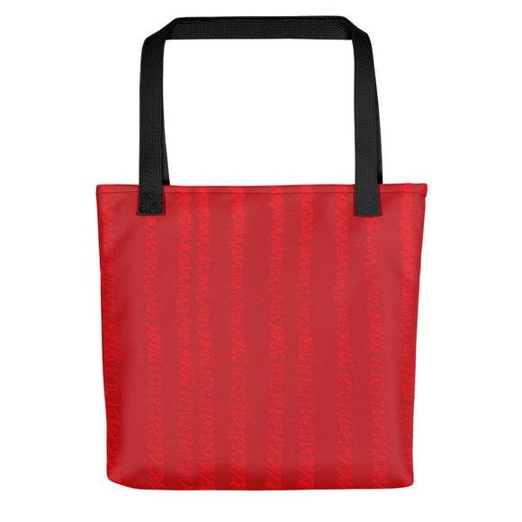 Red Tote Bag - Lines #1