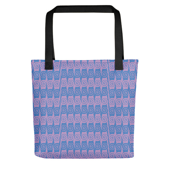 Ionic-patterned Blue and Mauve Tote bag