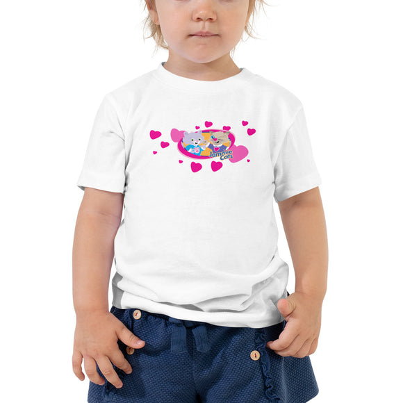 Jammie Cats™ Kids with Hearts - Toddler Short Sleeve T-shirt
