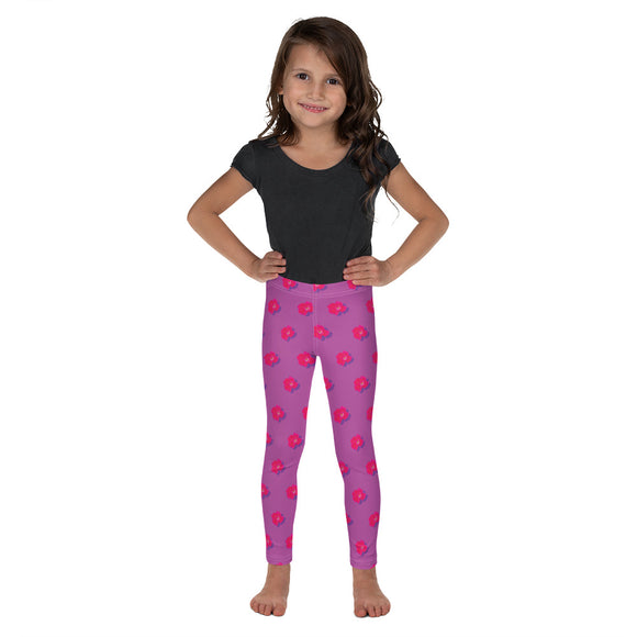 Kid's Roses on Mauve Leggings
