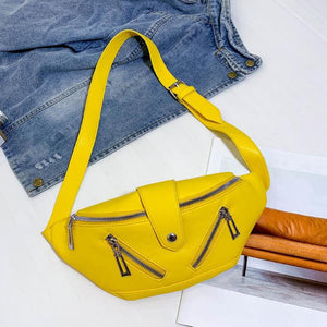 BOGO 1/2 OFF INSTOCK 💝SHOP NOW 💝Quick Ship Item Yellow Zipper Fanny Pack *Free Shipping