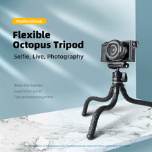 Load image into Gallery viewer, Telesin Flexible Octopus Tripod Stand with Phone Holder