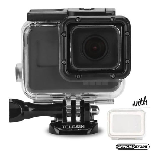 Telesin Waterproof Case for GoPro Hero 5, Hero 6, Hero 7 Camera with Touch Backdoor