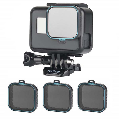 Telesin ND Filter Set for GoPro Hero 5, Hero 6, Hero 7 Cameras