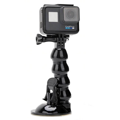 Telesin Jaw Flex Suction Cup Car Action Camera Mount with Phone Holder