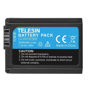 Telesin NP-FW50 Battery for Sony Cameras
