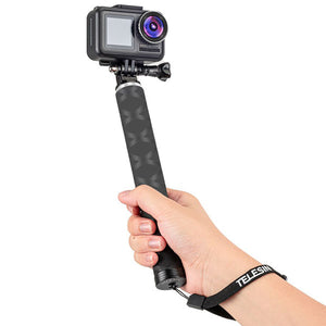 Telesin Carbon Fiber Monopod + Aluminum Tripod for Action Cameras