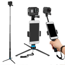 Load image into Gallery viewer, Telesin V2 Extendable Monopod Pole + Aluminum Tripod for Action Cameras