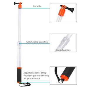 Telesin Aquapod Extendable Floating Monopod Pole for Action Cameras