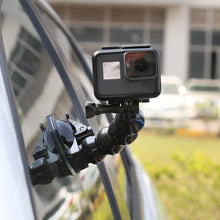 Load image into Gallery viewer, Telesin Jaw Flex Suction Cup Car Action Camera Mount with Phone Holder