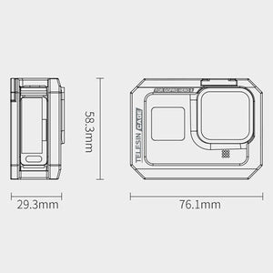 Telesin Aluminum Frame Cage for GoPro Hero 8 Camera