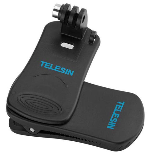 Telesin 360-Rotation Backpack Clip Mount for Action Cameras
