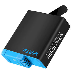 Telesin 3-Slot Charging Box with 2 Batteries for GoPro Hero 5, 6, 7, 8 Cameras