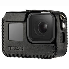 Load image into Gallery viewer, Telesin Leather Case with Strap for GoPro Hero 8 Action Camera