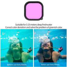 Load image into Gallery viewer, Telesin Pink, Red and Purple Underwater Filter for GoPro Hero 9 Waterproof Case