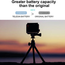 Load image into Gallery viewer, Telesin 3-Slot Battery Charger with 2 Batteries for GoPro Hero 9 Camera