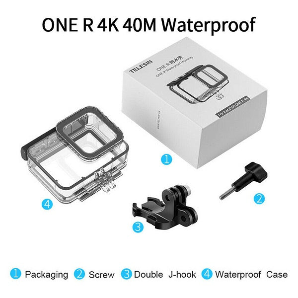 Telesin Waterproof Case for Insta360 One R Camera