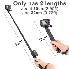 Load image into Gallery viewer, Telesin Carbon Fiber Monopod for Action Cameras