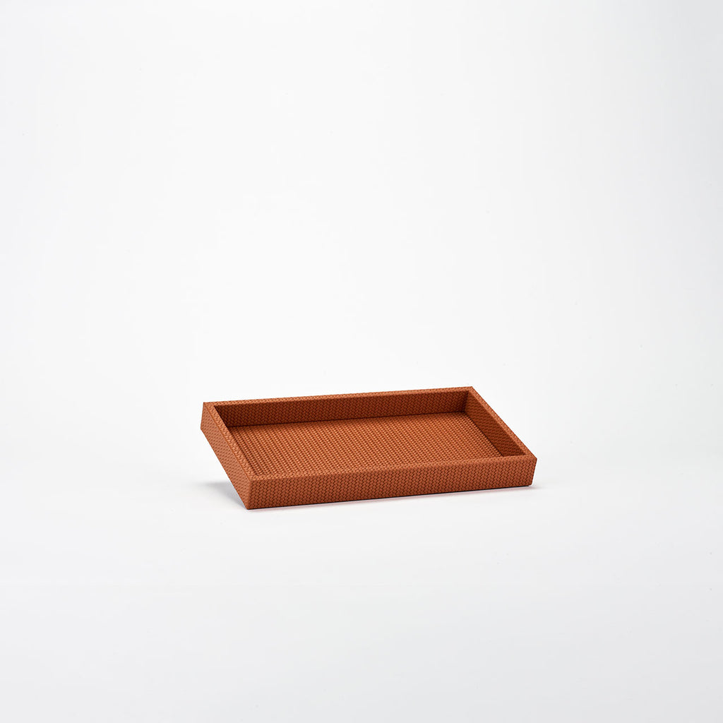 PINETTI SMALL RECTANGULAR TRAY L SAMURAI FIRENZE CAMEL