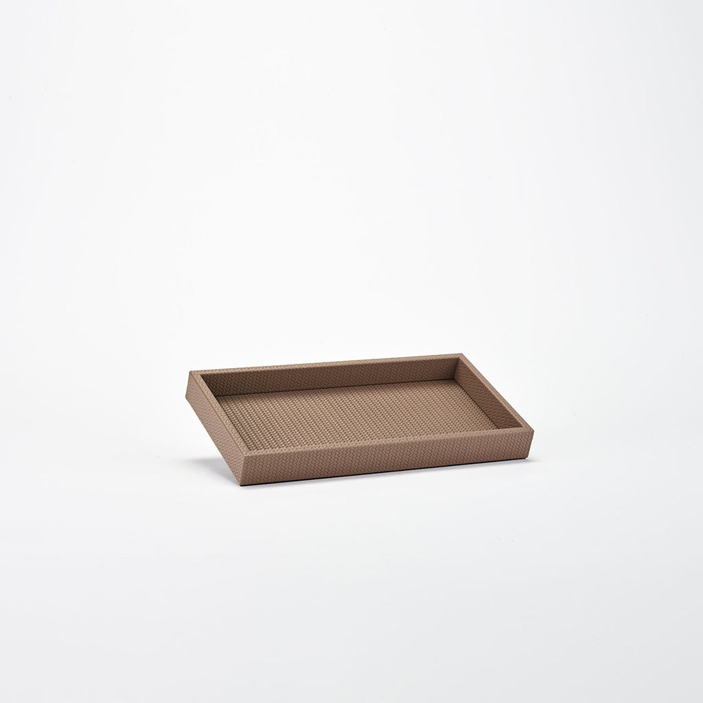 PINETTI SMALL RECTANGULAR TRAY L SAMURAI FIRENZE TAUPE