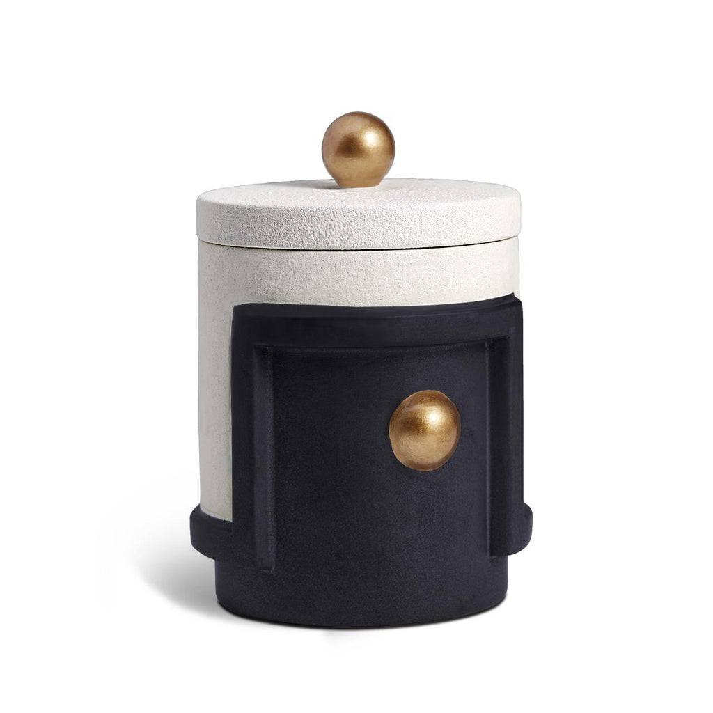 Cubisme scented candle colour: black white gold