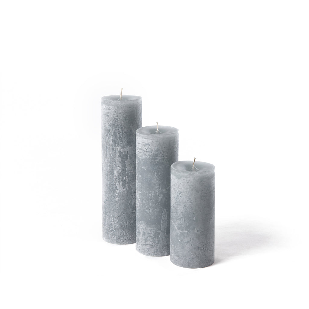 Luxury rustic candle in grey