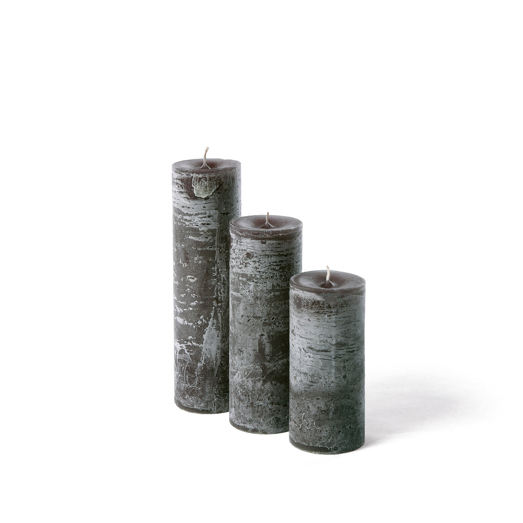 Luxury rustic candle in dark slate grey