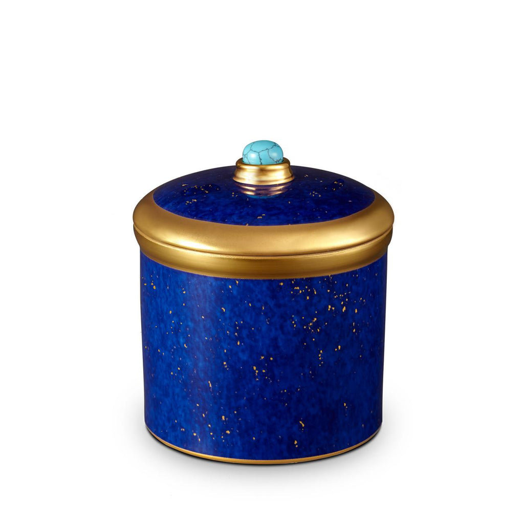 Lapis Scented candle colour: dark blue&gold