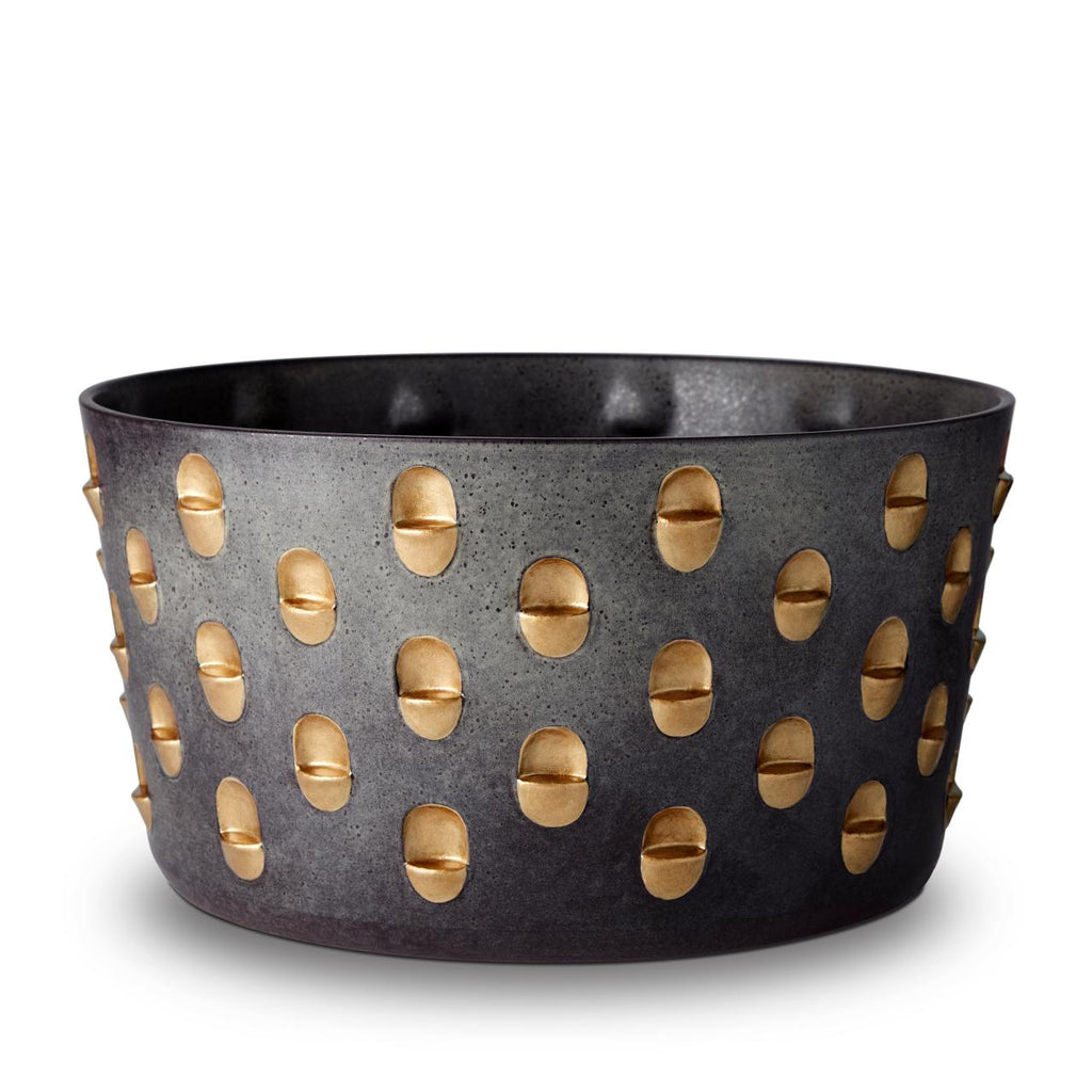 Coba Porcelain bowl size:L colour: light black&gold