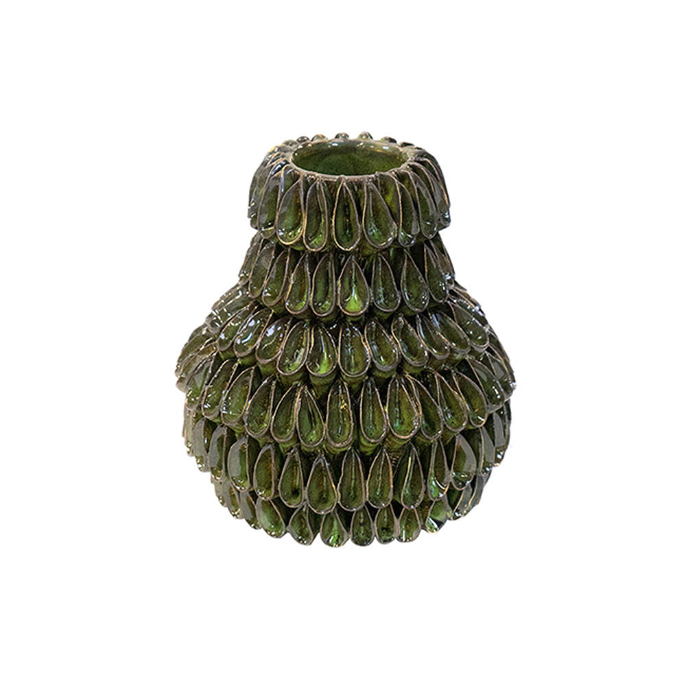 STRAIGHT NECK VASE GREEN PEARL