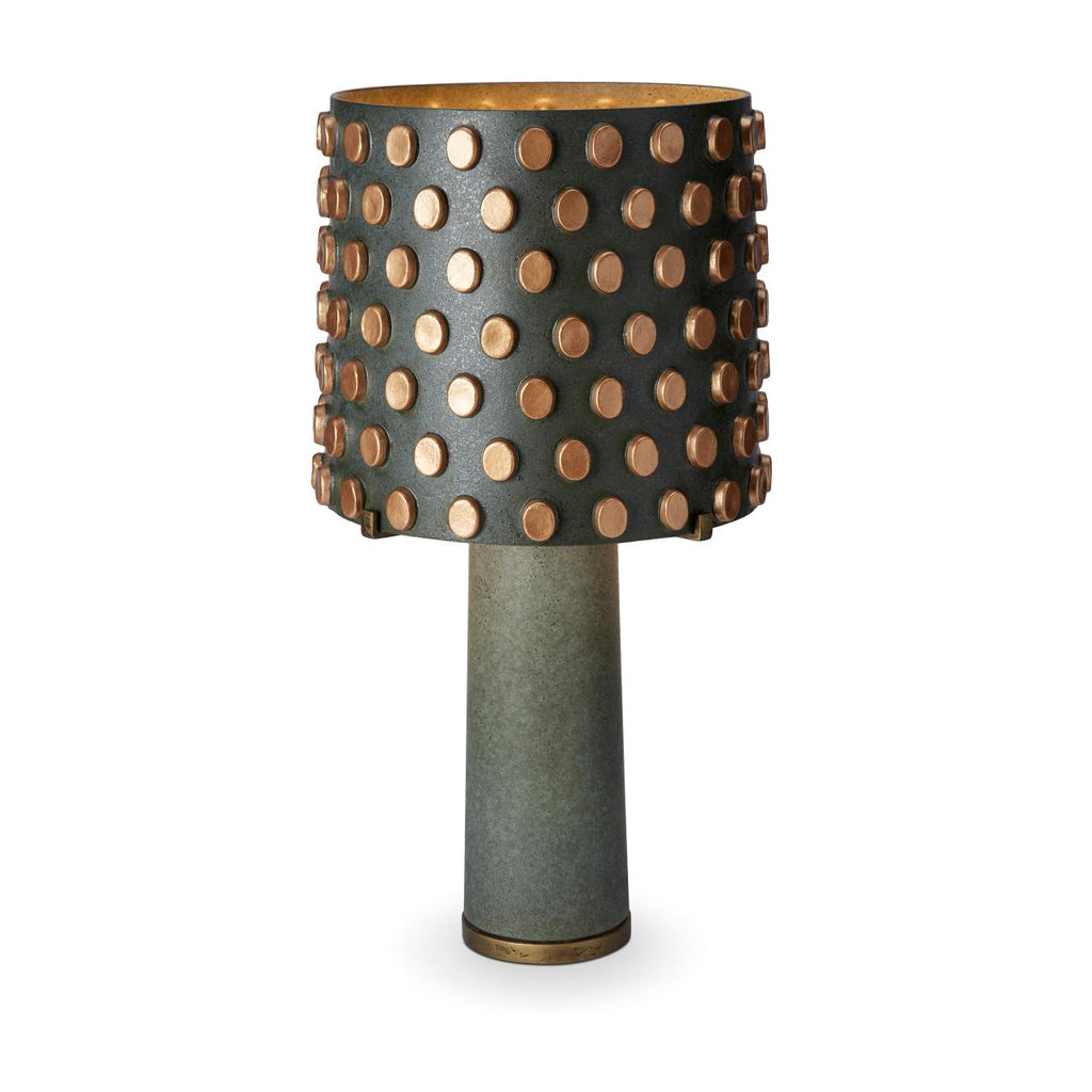 Pakal Porzelain table lamp colour: green&black