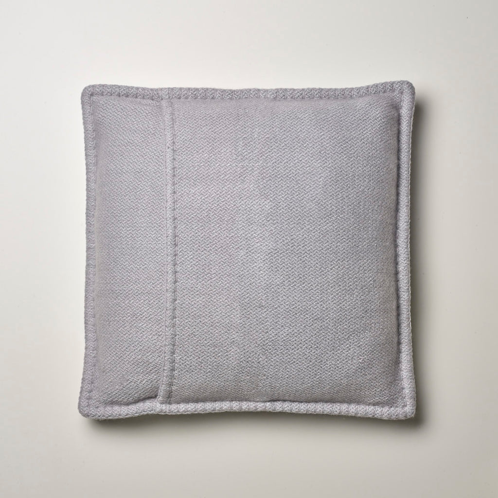 CASHMERE PILLOW WITH LEATHER DETAIL · CLOUD
