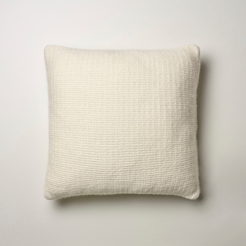 CASHMERE PILLOW FINE WAFFLE WEAVE · IVORY
