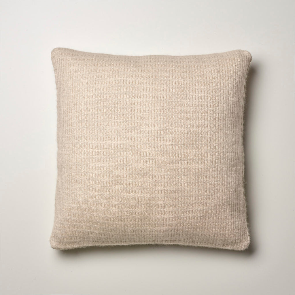 CASHMERE PILLOW FINE WAFFLE WEAVE · SAND
