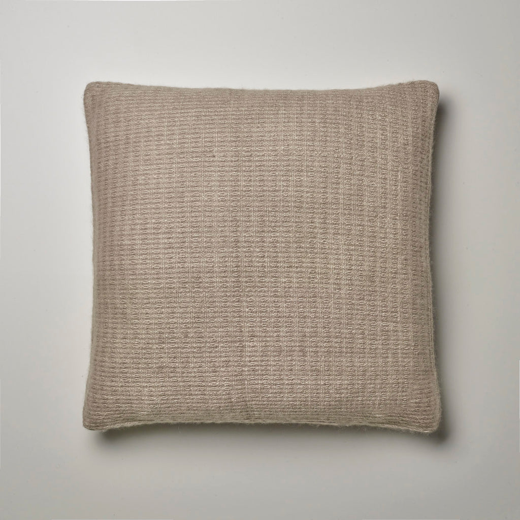CASHMERE PILLOW FINE WAFFLE WEAVE · TAUPE