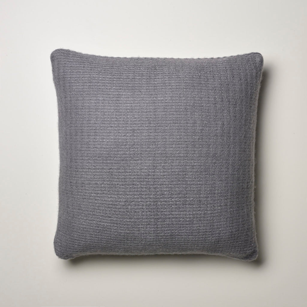 CASHMERE PILLOW FINE WAFFLE WEAVE · STONE