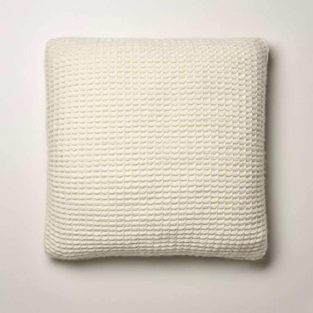 CASHMERE PILLOW WAFFLE WEAVE · IVORY
