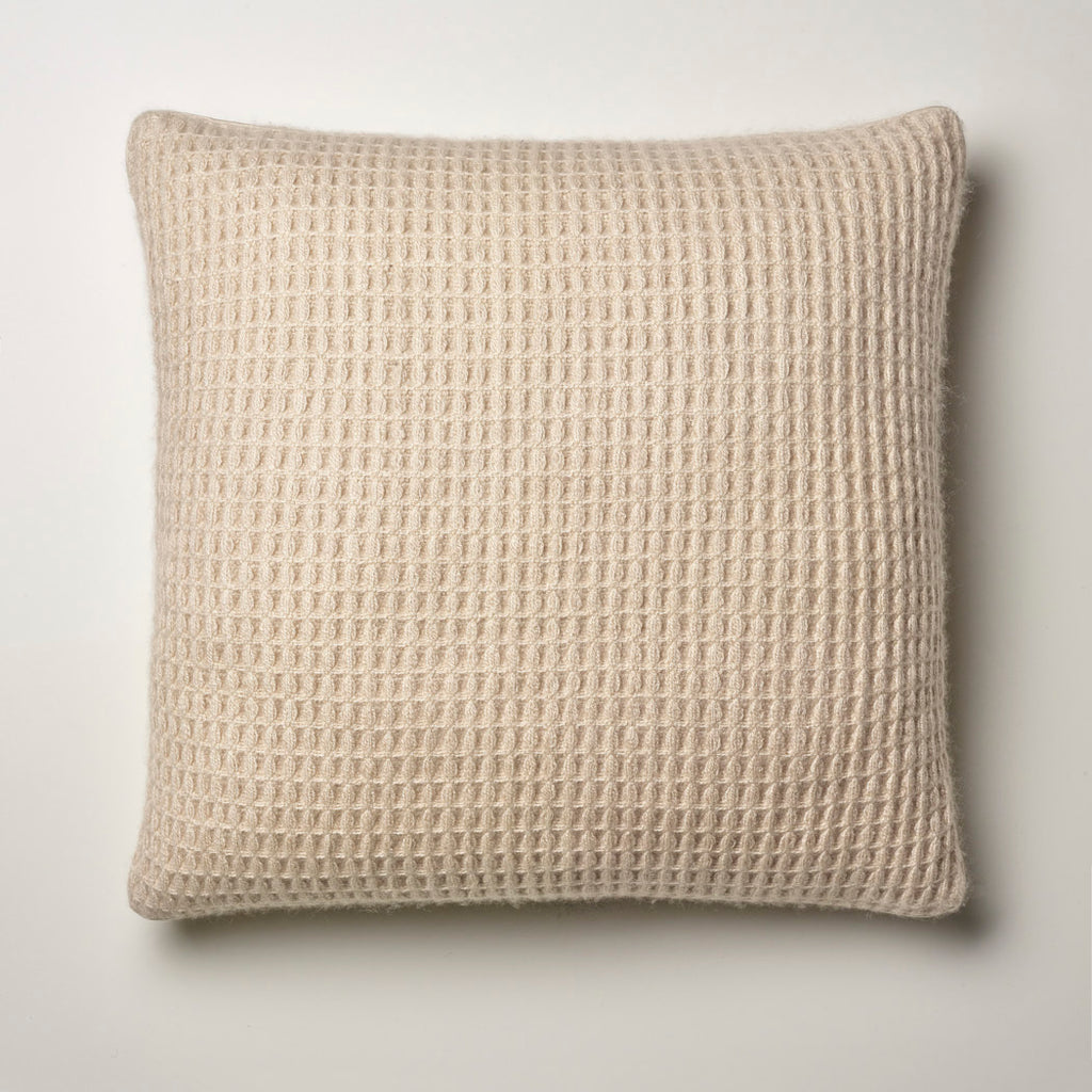 CASHMERE PILLOW WAFFLE WEAVE · SAND