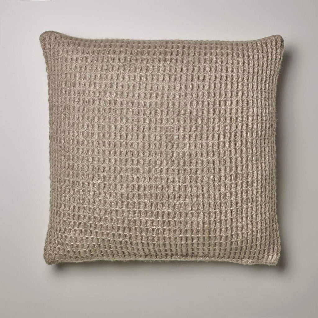 CASHMERE PILLOW WAFFLE WEAVE · TAUPE