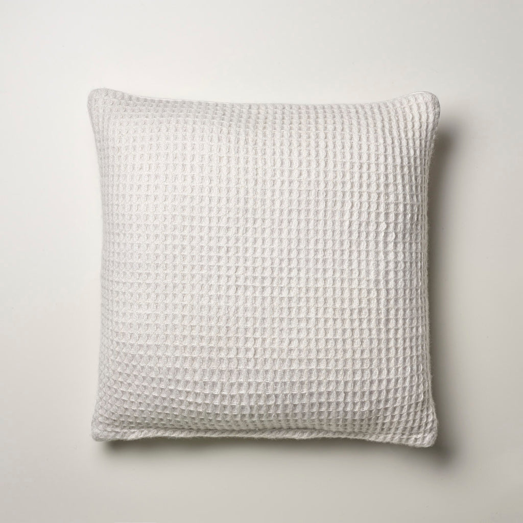 CASHMERE PILLOW WAFFLE WEAVE · ICEWHITE
