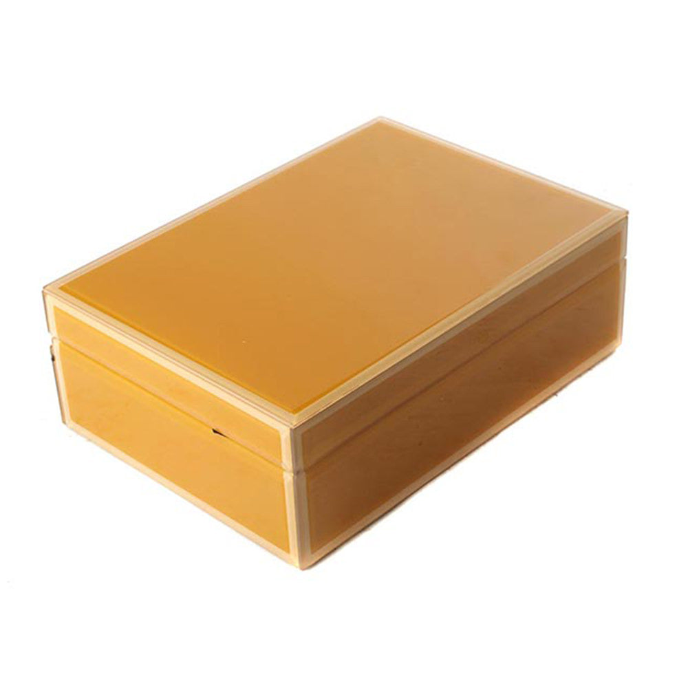 STORAGE BOX YELLOW LARGE