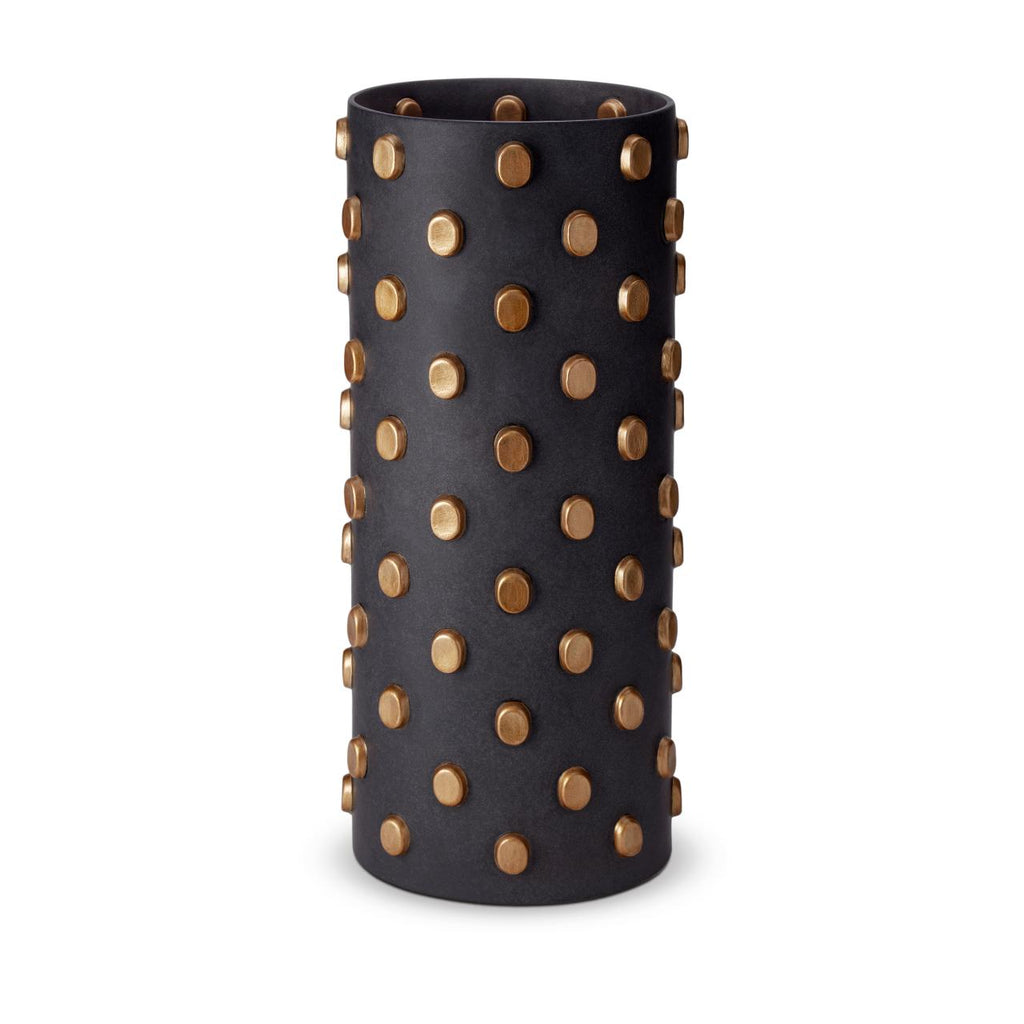 Teo Vase size:XL colour: black&gold