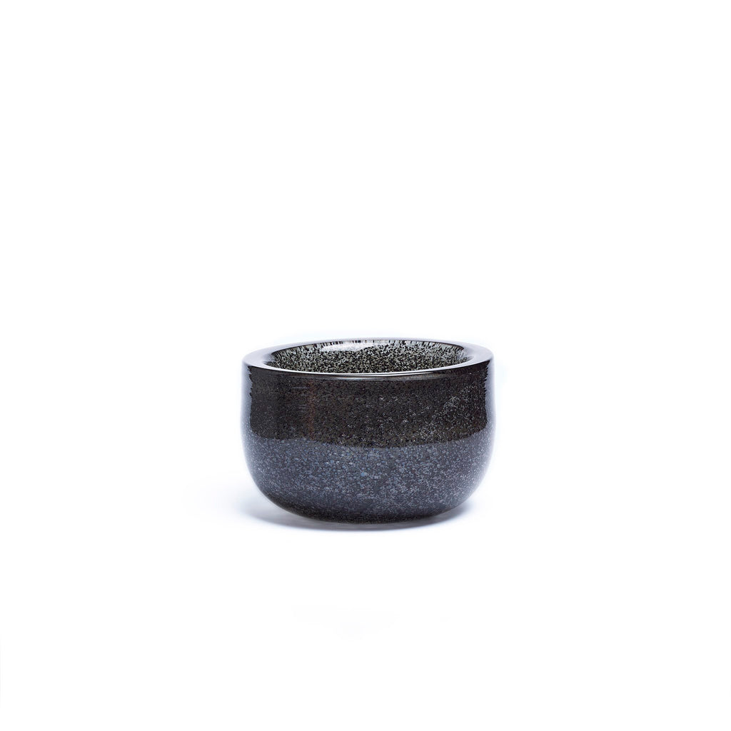 VASE LOW THICK RIM · SPARKLING GRAPHITE