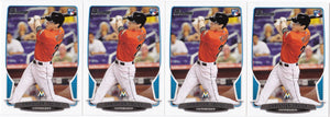2013 Bowman Christian Yelich Rookie Card #40 - Lot of (4) - XFMSports