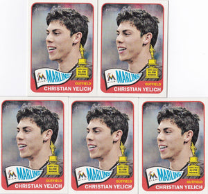 2014 Topps Heritage Christian Yelich #268 - Lot of (5) - XFMSports