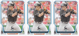 2014 Bowman Christian Yelich #106 - Lot of (3) - XFMSports