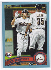 2011 Topps Update J.D. Martinez Rookie Card #US186 BLUE Walmart - XFMSports