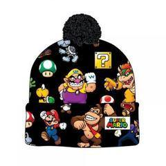 Super Mario Bros. Sublimated Print Cuff Knit With Pom Beanie - XFMSports