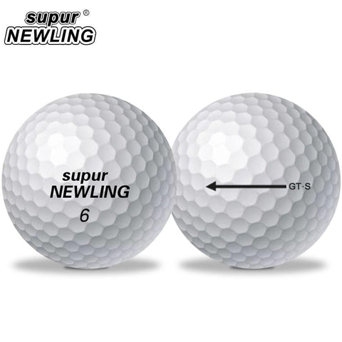 10 Pcs Golf Balls supur NEWLING Super Long Distance Soft Feel 3-piece Ball Soft Feel Ball for Professional Competition