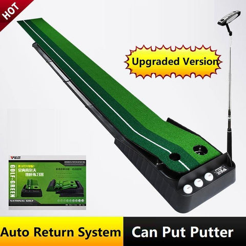 PGM Ball Return 2.5M/3M Indoor Golf Putting Trainer Portable Golf Practice Putting Mat Golf Putter Green Fairway Trainer